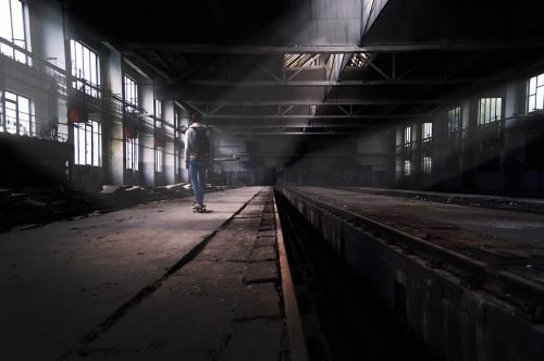 factory skateboard abandoned