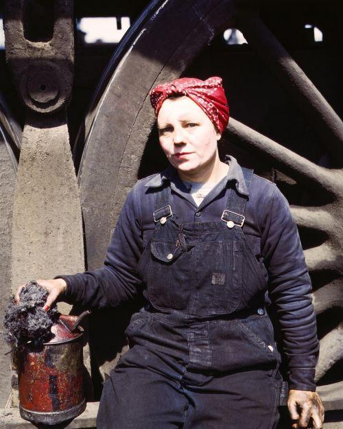 factory worker vintage