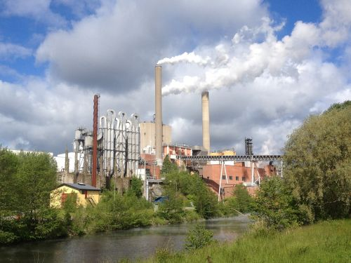 factory smoke pulp