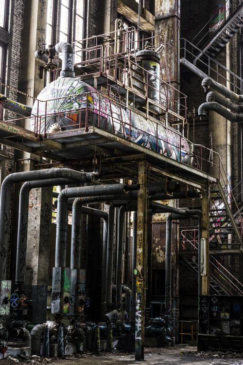 factory boiler metal