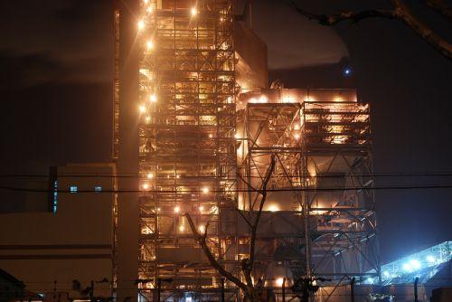 factory light brightly lit