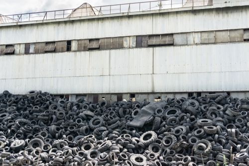 factory tyres garbage