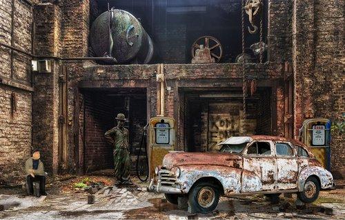 factory  hall  auto