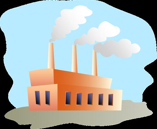 factory building smoke