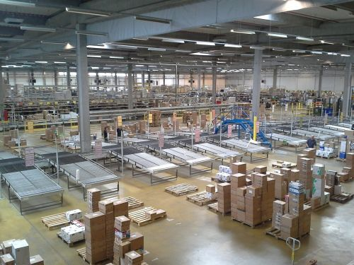 factory warehouse boxes