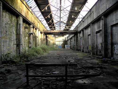 factory building factory hall