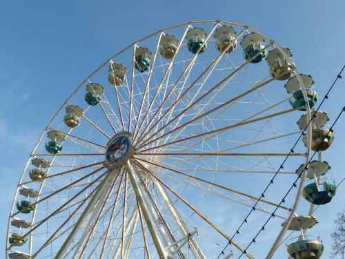 fair christmas market wheel