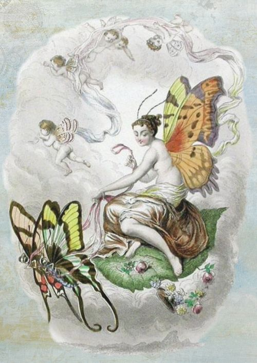 fairies cloud vintage