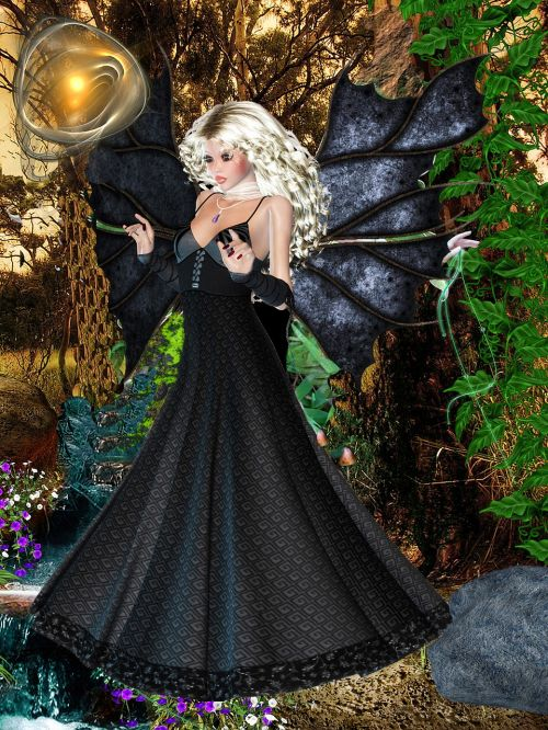 fairy beautiful dark spells fantasy