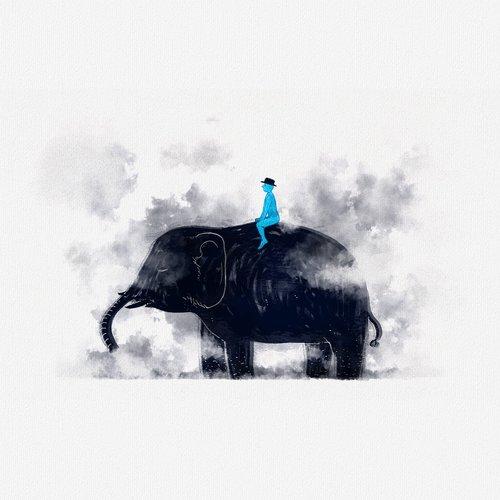 fairy tales  elephants  smoke