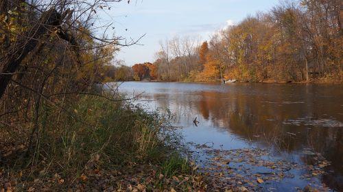 fall three rivers park maple grove