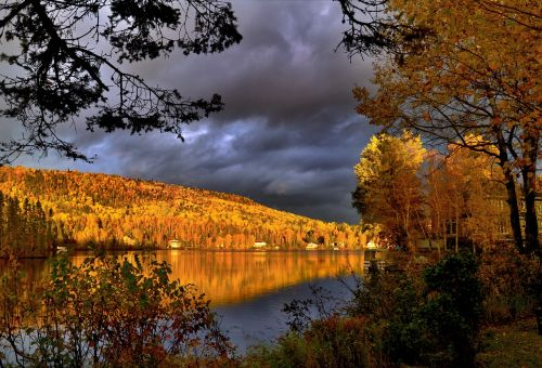 fall autumn landscape foliage