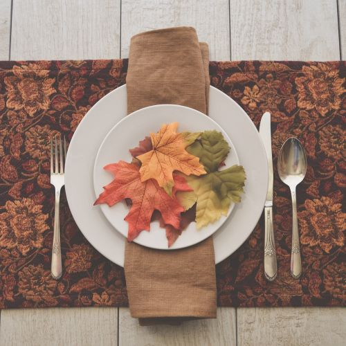 fall table table setting fall colors