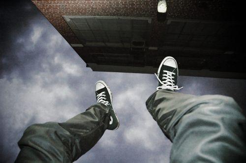 falling suicide man