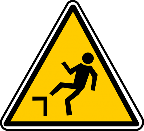 falling hazard warning