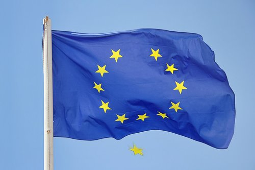 falling star  brexit  the flag of the european union