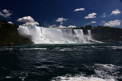 falls water flow american landscape