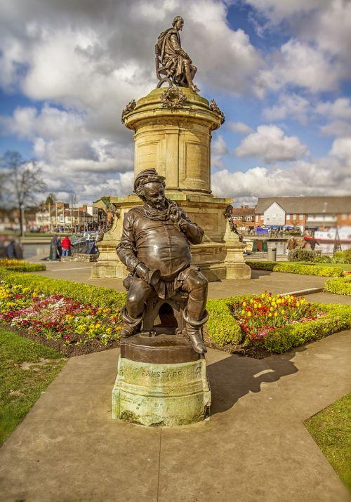 falstaff,Šekspyras,stratford upon avon,statula,senovės,bard,charakteris,dramos,literatūra,kaimas,Anglų,poetas,užsiėmes,gatvė,bancroft sodai,žinomas,Warwickshire,uk