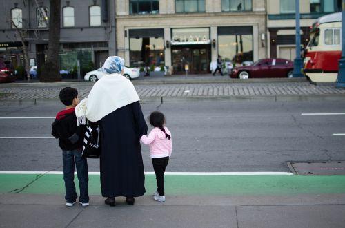 family street woman