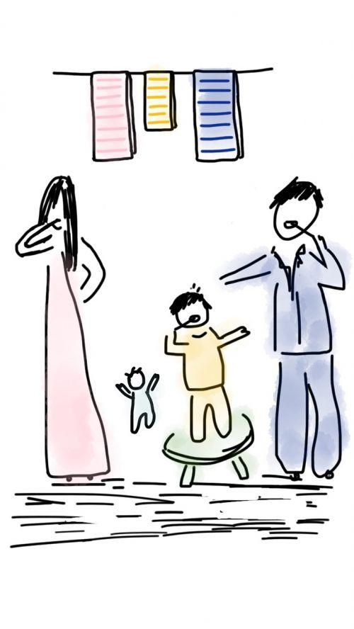 family morning child