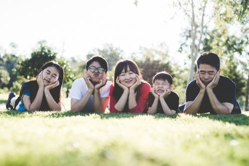 family outdoor happy