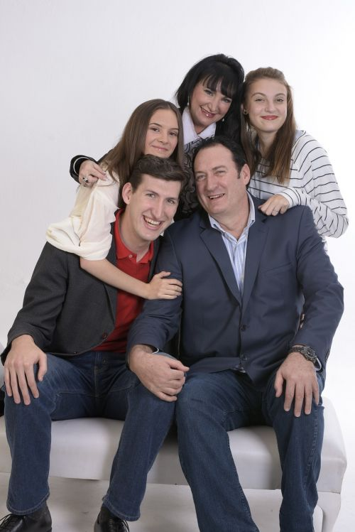 family portrait smiling
