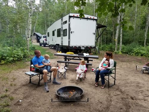 family camping summer