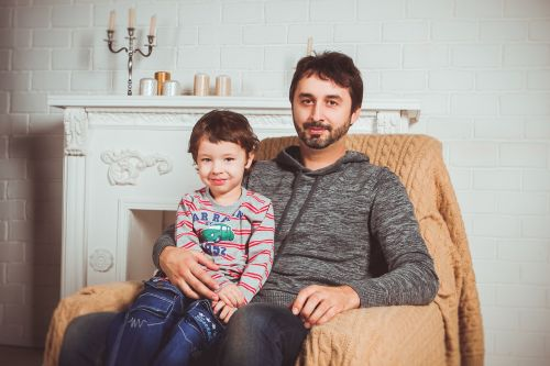 family photoshoot armchair