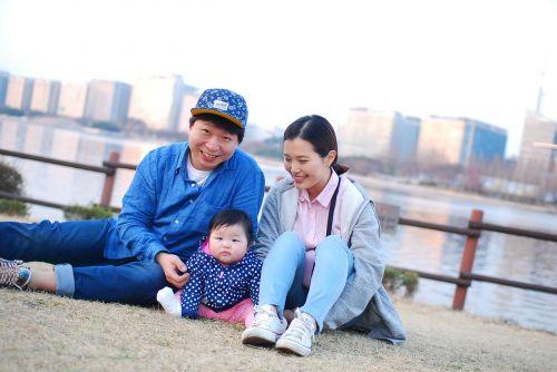 family korean baby