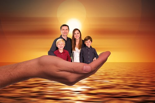 family  sun  sunset