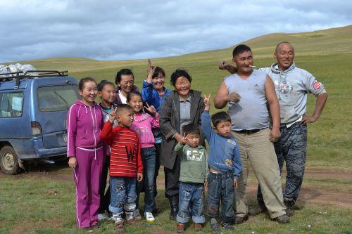 family mongolia steppe