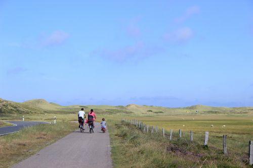 family cycling bike