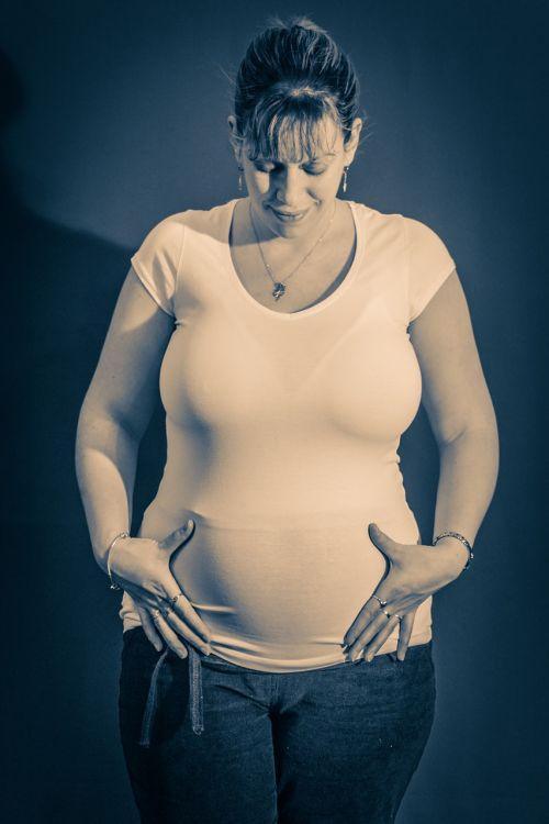 family pregnant woman