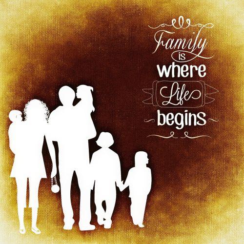 family children silhouette