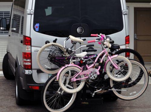 Family Bicycles On Van
