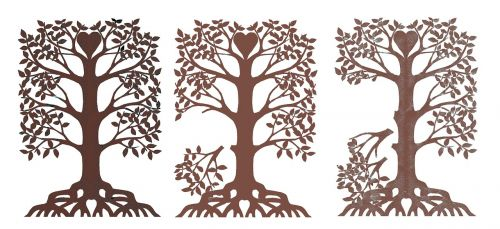 family tree disintegrating paper cut