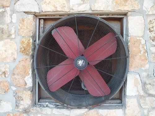 fan rock wall ventilation