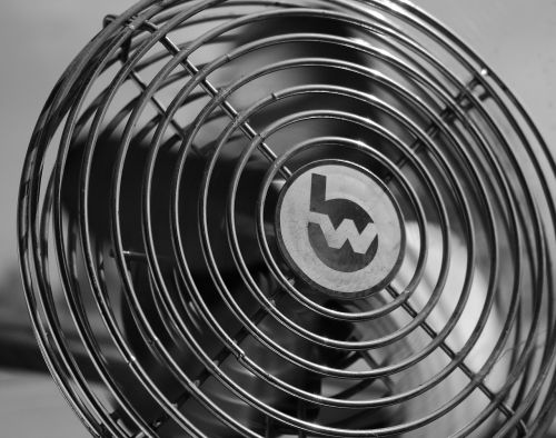 fan black and white cooling