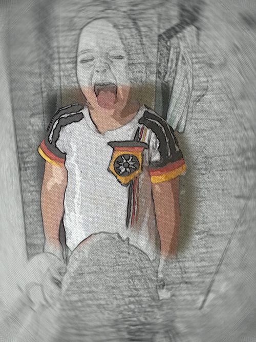 fan football fan drawing