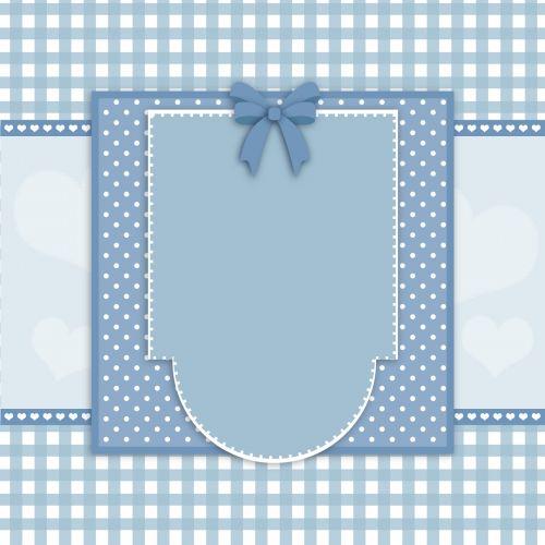 Fancy Blue Card Frame