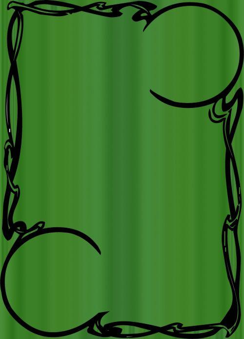 Fancy Green Frame