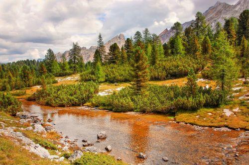 fanes dolomites landscape