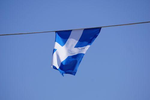 vimpelis, vėliava, vėjas, dangus, kirsti, mėlynas, vėliavos vėjas