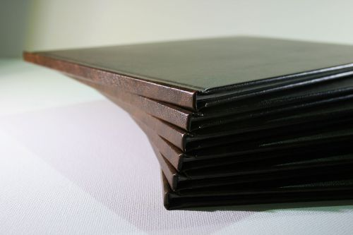 Fanned Book Stack