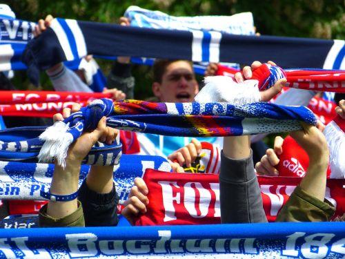 fans celebrate football