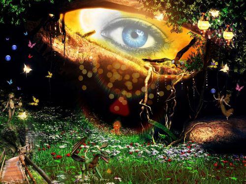 fantasy eye mystical