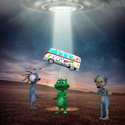 fantasy blue ufo