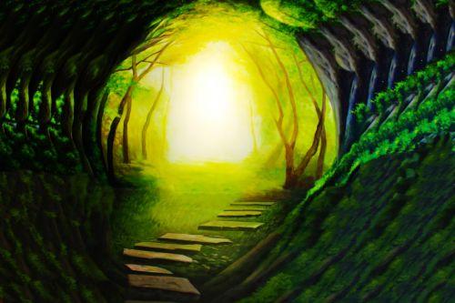 fantasy light tunnel