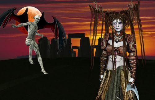 fantasy druid stonehenge