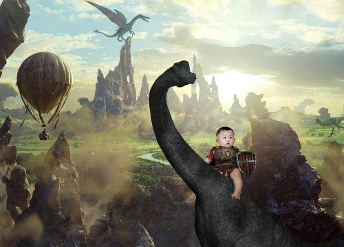 fantasy dinosaur paladin